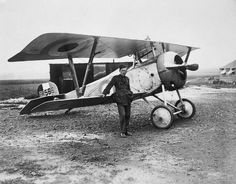 AIR ACES FIRST WORLD WAR (CO 1751)   Lieutenant-Colonel W A 'Billy' Bishop VC, of No 60 Squadron, Royal Flying Corps, one of the leading fighter aces of the First World War, standing in front of his Nieuport 17 Scout at Filescamp, France, August 1917.