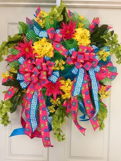 24 inch Whimical Bumble Bee Mesh Spring and Summer Wreath by WilliamsFloral on Etsy https://www.etsy.com/listing/273468782/24-inch-whimical-bumble-bee-mesh-spring