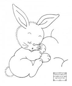free bunny rabbit applique or embroidery