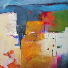 Village Along the Coast by Dorothy Gaziano. (large view) #colorful #abstract #art