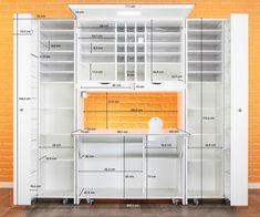 Craft Storage Cabinets, Diy Storage, Locker Storage, Organisation Hacks, Sewing Room Organization, Study Table Designs, Sewing Cabinet, Sewing Desk, Sewing Room Design