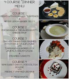 4 Course Dinner Party Menu Www Realthekitchenandbeyond Com