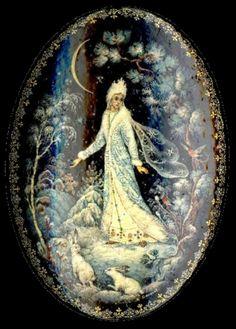 Snow Maiden, Russian Folk Art, Mandala, Fall Wallpaper, Digital Art Girl, Medieval, Italian Art, Snow Queen, Christmas Pictures