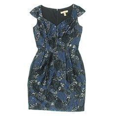 Aidan Mattox Womens Cap Sleeve Foil Jacquard Cocktail Dress BlueBlack Dress -- Check out the image by visiting the link. (Note:Amazon affiliate link) #CocktailDresses