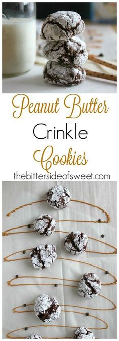 Peanut Butter Crinkle Cookies - The Bitter Side of Sweet #cookies #peanutbutter