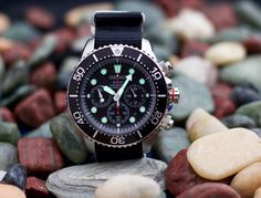 Seiko Solar Chronograph Diver Watch SSC015P1