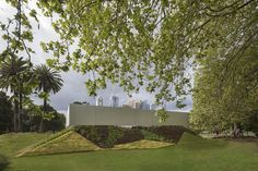 OMA opened its performative theater-like MPavilion in Melbourne's Queen Victoria Gardens
