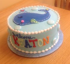 Whale Cake From Saras Sweets Bakery Grand Rapids MI Cakes Baby Shower