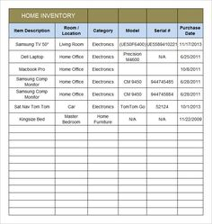 Equipment Inventory Template  WordstemplatesOrg