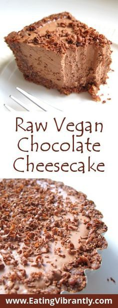 Raw Vegan Chocolate Cheesecake - Nut-free, quick and easy, and insanely delicious @ Eating Vibrantly