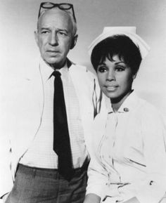 Julia TV Show Diane Carroll | Lloyd Nolan and Diahann Carroll in the television series Julia