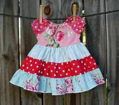 Ava Rose Peasant Dress 2 4 6 by fluffygirlboutique on Etsy, $45.99