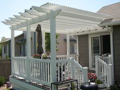 White vinyl fencing makes your house look like from the cover of a magazine.