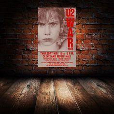 U2 1983 Cleveland Concert Poster on Etsy, $15.00