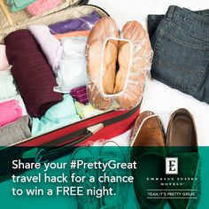 Got a #PrettyGreat Travel Hack? Submit yours here on Tumblr for a chance to win a free night stay, every week for the next 8 weeks!