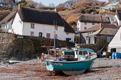 What's for sure though is that here you will find the wonders of the West Country in all its glory. Devon And Cornwall, Cornwall England, Dslr Photography Tips, Seaside Village, Old Boats, Boat Painting, House By The Sea, England And Scotland, Fishing Villages