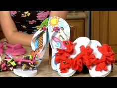 Sophie's World: Decorating flip-flops (Introducing Hanna!)