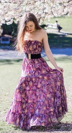 I've Got Sunshine ☀️ | Style and Travel Blogger - Spring style - Tiered floral print maxi dress