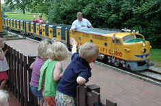 KC Public park system has so much to offer kids of all ages. Kirk and I went to Palmer Grego's birthday party at this train park.a must do for every little boy train lover! Train Rides For Kids, Ride On Train, Trains For Sale, Train Car, Backyard Creations, Garden Railroad, Hobby Trains, Electric Train, Parcs