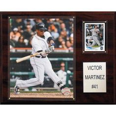 C Collectables MLB 12x15 Victor Martinez Detroit Tigers Player Plaque