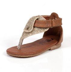 Brown & Gold Toddler Sandals