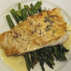 Baked Halibut with Lemon Butter Sauce                                                                                                                                                                                 More