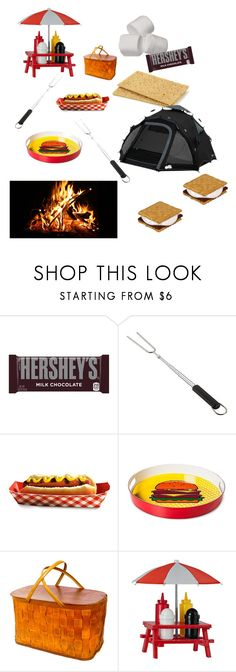 """""""Love camping"""" by ericjen8685 ❤ liked on Polyvore featuring Hershey's and Crate and Barrel"""