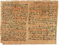 The Edwin Smith Papyrus is a medical treatise from ancient Egypt. This papyrus is named after Edwin Smith, the American collector of antiquities who purchased the papyrus. Ancient Egyptian Medicine, Egyptian Art, Egyptian Mummies, Egyptian Tattoo, Egyptian Symbols, Primary And Secondary Sources, Book Of The Dead, By Any Means Necessary, Photos Voyages