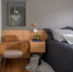 35 Fascinating Interior Wall Design Ideas - When you are in the process of decorating your home the topic of Interior Wall Design will leave many stumped. Walls today no longer have to have a sm. Interior Exterior, Interior Walls, Interior Architecture, Bedroom Wall, Bedroom Decor, Hotel Bedroom Design, Concept Home, Design Blogs, Design Ideas