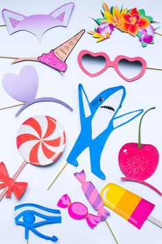 PRINTABLE KATY PERRY PHOTO BOOTH PROPS PACK | SHOP NOW | bespoke-bride.com |