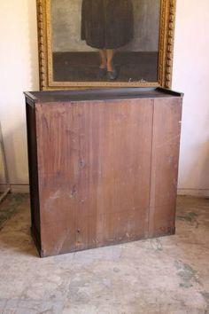 Rotto♪古い引き出し2杯付きダイヤガラス戸の収納棚 食器棚本棚_画像3