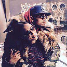 Karrueche Tran and Chris Brown,
