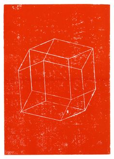 Philippe Desarzens (In collaboration with Fabio Parizzi) - Polyhedra #woodcut #print #pyrography