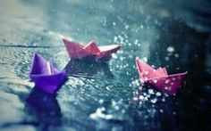 Floating in the rain - great kid play!