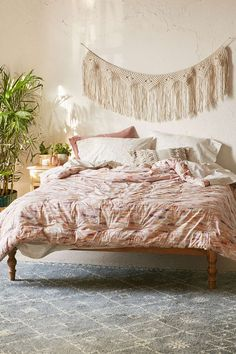 Shop Farnoosh Comforter Snooze Set at Urban Outfitters today. Twin Xl Bedding, Bedding Sets, Urban Outfitters Bedding, Deco Boheme, Make Your Bed, Up House, Teen Girl Bedrooms, New Room, Apartment Living