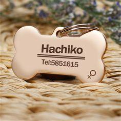Gratis graveren meerdere talen kat halsband accessoires rvs hond kat tag maat tag naam telefoon AA