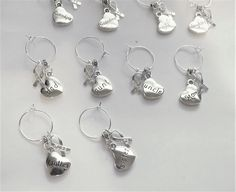 Wine Glass Awareness Charms You Pick the ones you want Mom, Dad, Aunt, Uncle, Grandma, Grandpa, Brother, Sister, Son or Daughter WC121215 by BlingItOutLoudCharms on Etsy