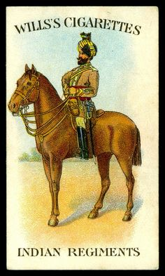 Cigarette Card - 38th King Georges Own Central India Horse