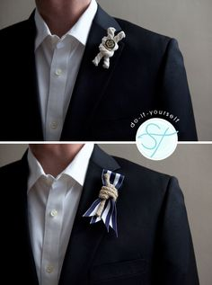 nautical boutonnieres!  i have never seen these before and i have just fallen in love with this idea.   beautifully amazing