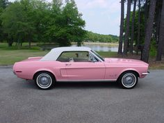 1968 Pink Mustang. I would so drive this!