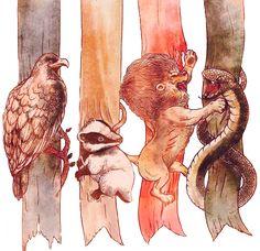 Hogwarts Houses | RENDER