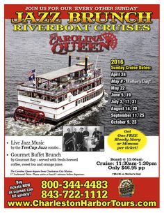 Jazz Brunch - Riverboat Cruises - Charleston Harbor Tours