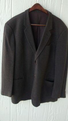 Men's suit coat 56 R brown Armani collezioni jacket wool blazer made in Italy  #ArmaniCollezioni #TwoButton