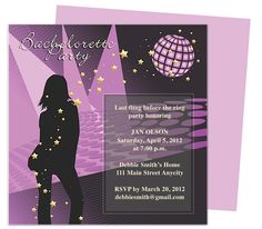 Partay Bachelorette Party Invitation Templates edits with Word, OpenOffice, Publisher, Apple iWork Pages. Easy to customize and print yourself.