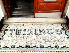 twinings london // doorway mosaic