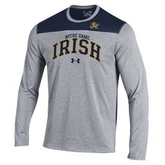 675b01483a5 Notre Dame Fighting Irish Under Armour Foundation Tech Performance T-Shirt  - Irish Clothing,
