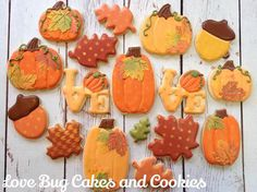 I Love Fall | Cookie Connection Love Bug Cakes and Cookies