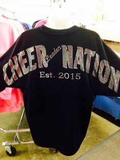Are you looking to show off your cheer spirit, team pride, or sorority? Chosen Bows Cheer Jerseys have quickly become the go-to apparel option in school wear, and cheer apparel. Easily personalize your cheer jerseys exactly the way you want. Options such as a matching bow with bling, iFly, iBase and other great choices, have made this one of our most popular items to date. Especially our custom cheer jerseys. To find your perfect custom cheer jersey, browse through the great collection