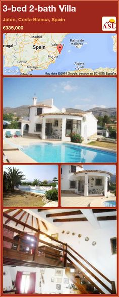 3-bed 2-bath Villa in Jalon, Costa Blanca, Spain ►€335,000 #PropertyForSaleInSpain