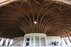 I don't like truth, .EASTERN design office - Eco-resort Pavilion, Via :. Bamboo Construction, Under Construction, Bamboo House Design, Bamboo Structure, Bamboo Architecture, Bamboo Art, Reinforced Concrete, Ho Chi Minh City, Pavilion